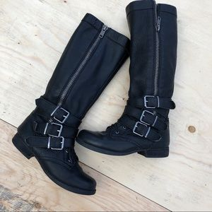 REAL leather biker boots